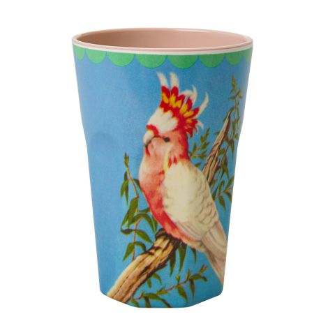 Rice Melamin Latte Cup Becher Two Tone Vintage Cockatoo Beige