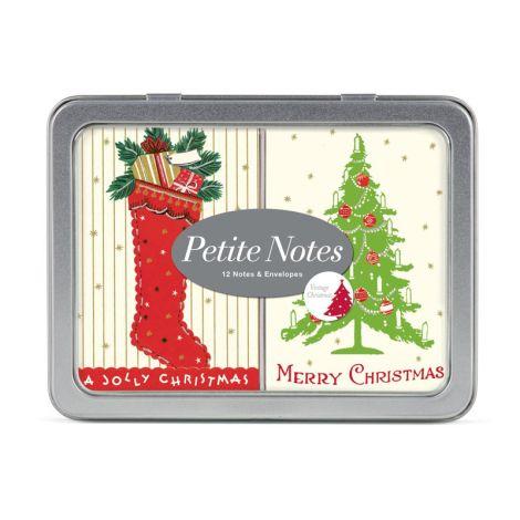 Cavallini Petite Notes Vintage Christmas •