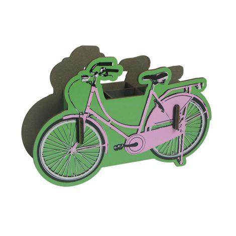 Werkhaus Stiftebox Fahrrad pink •