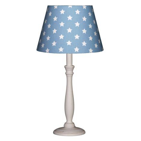 Lampenschirm Sterne auf Mittelblau 23 cm