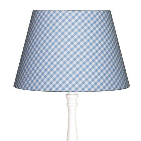 Lampenschirm groß Karo Hellblau