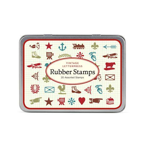 Cavallini Stempelset Vintage Letterpress •