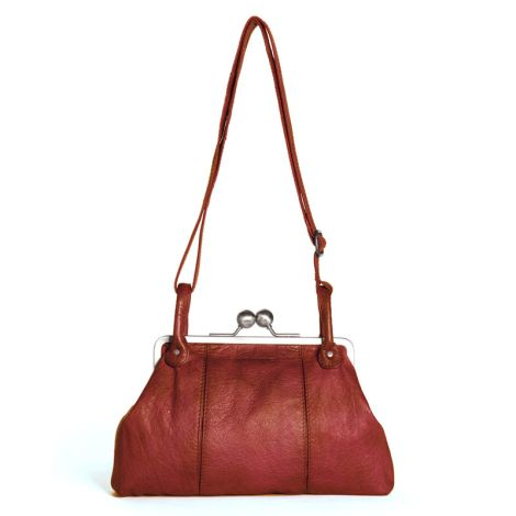 Sticks and Stones Ledertasche Toulouse Red Washed •