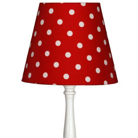 Lampenschirm Rot mit Punkten