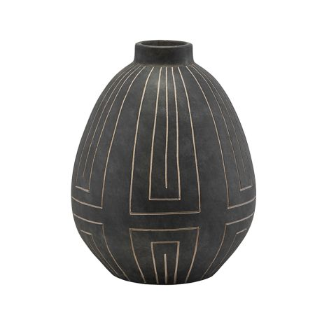 House Doctor Vase Aljeco Grey/Black 40 cm