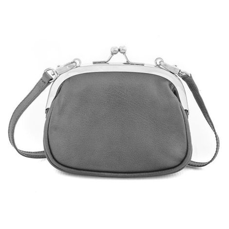 Sticks and Stones Ledertasche Alba Light Grey Washed •