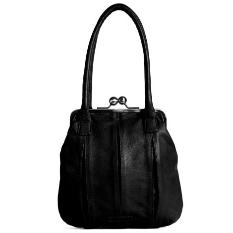 Sticks and Stones Ledertasche Annecy Black Washed