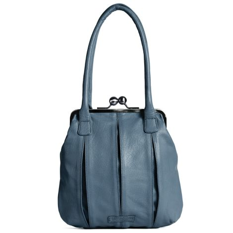 Sticks and Stones Ledertasche Annecy Dark Slate Washed