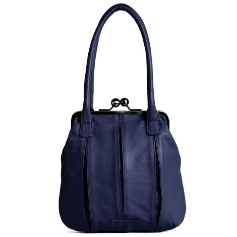 Sticks and Stones Ledertasche Annecy Midnight Blue Washed