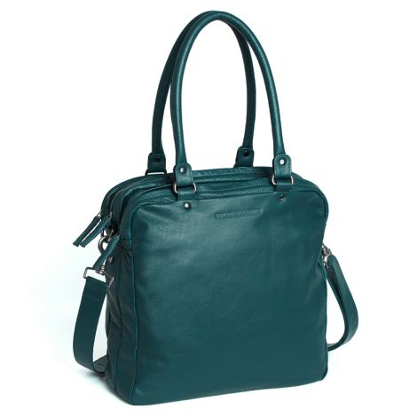 Sticks and Stones Ledertasche Austin Dusty Petrol Washed