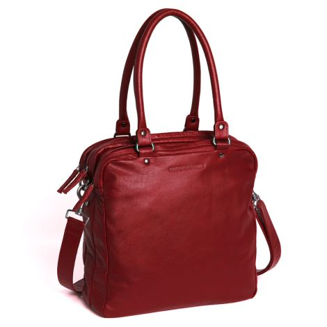 Sticks and Stones Ledertasche Austin Red Washed