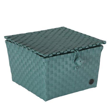 Handed By Korb Pisa mit Deckel Stone Green •