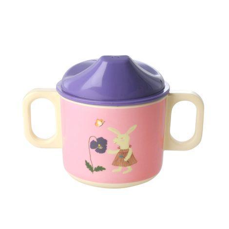 Rice Melamin Schnabeltasse Pink Bunny