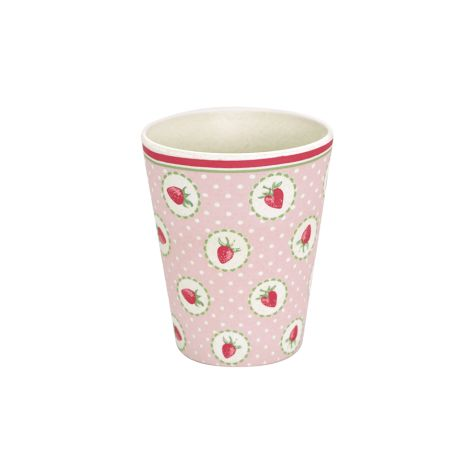 GreenGate Becher Strawberry Pale Pink