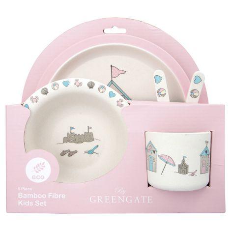 GreenGate Kinder-Geschirrset Ellison Pale Pink 5-teilig