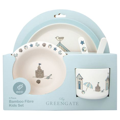 GreenGate Kinder-Geschirrset Ellison Pale Blue 5-teilig