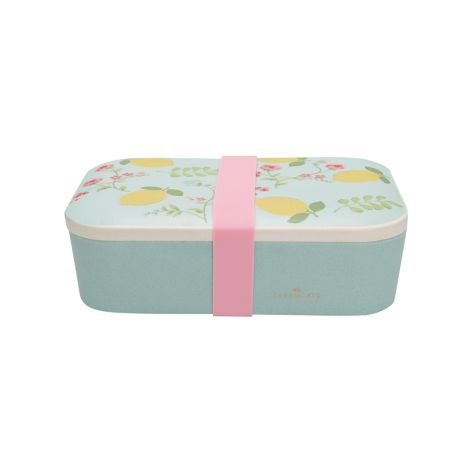 GreenGate Lunch Box Limona Pale Blue