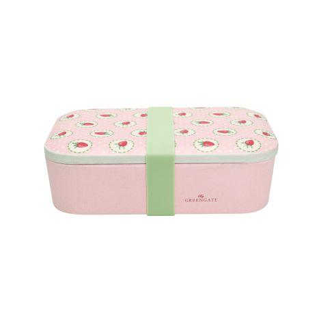 GreenGate Lunch Box Strawberry Pale Pink