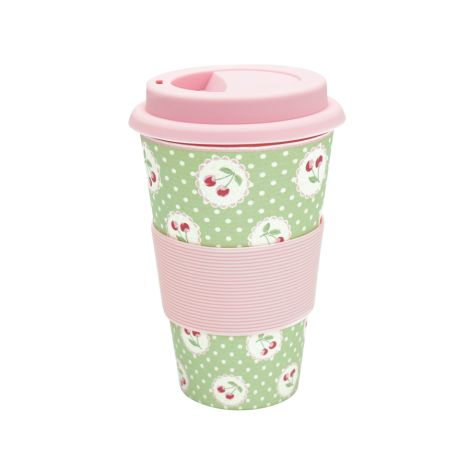 GreenGate Travel Mug Becher Cherry Berry Green