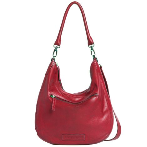 Sticks and Stones Ledertasche Barossa Cherry Red Washed