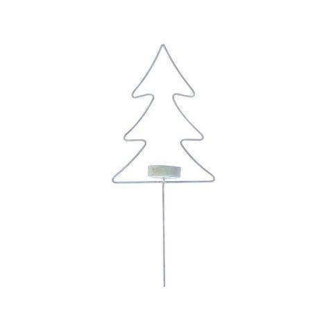 Krasilnikoff Teelichthalter-Stick Baum X-mas Zink