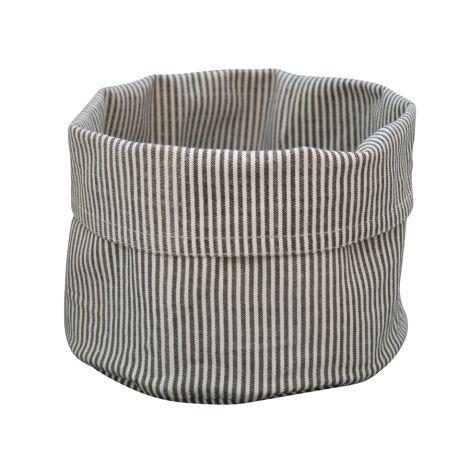 Krasilnikoff Brotkorb Pinstripe Charcoal