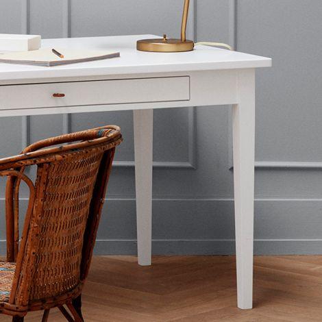 Oliver Furniture Extra Tischbeinset 74 cm  für Tisch mit Lederband Weiß