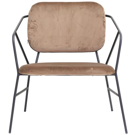 House Doctor Loungesessel Klever Braun •