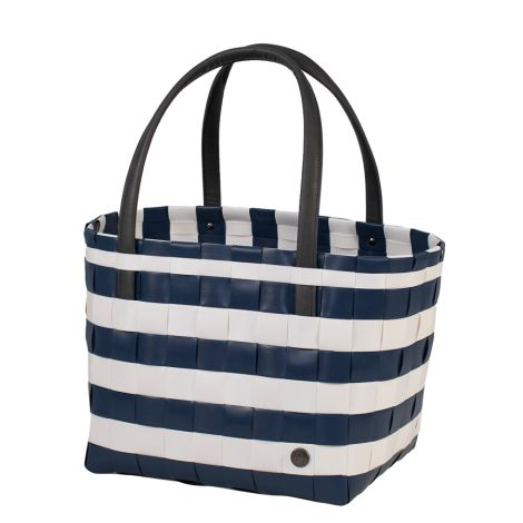 Handed By Shopper Color Block Vintage Blue/White
