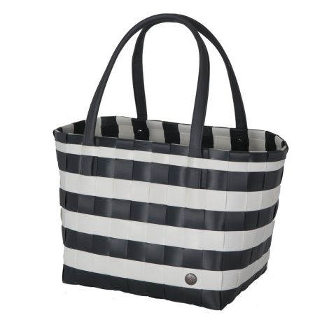 Handed By Shopper Color Block Vintage Dark Grey/White •
