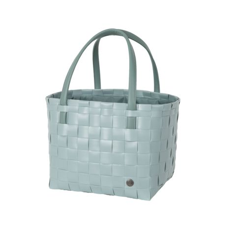 Handed By Tasche Shopper Color Delux mit Zip Cover Greyish Green