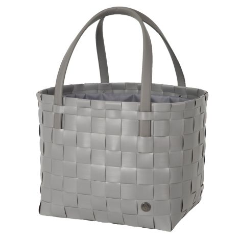 Handed By Tasche Shopper Color Delux mit Zip Cover Brushed Grey