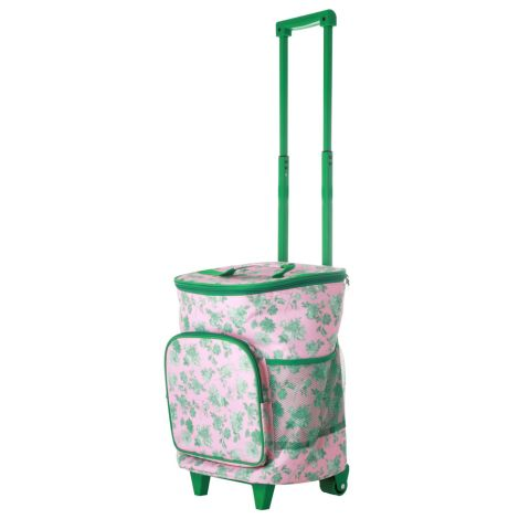 Rice Kühltasche Trolley Pink Green Rose 22 L