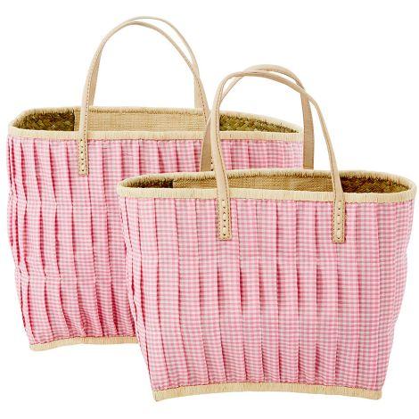 Rice Tasche Vichy-Karo Pink/Weiß