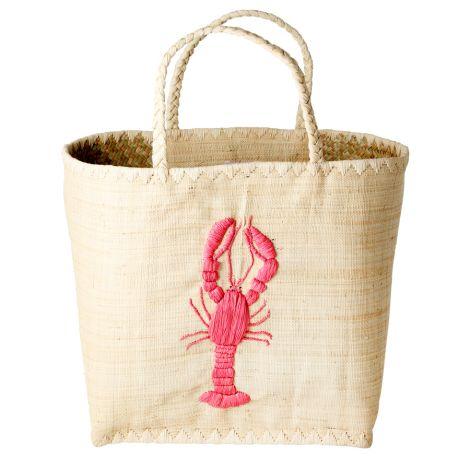 Rice Tasche Fantasy Lobster Gestickt