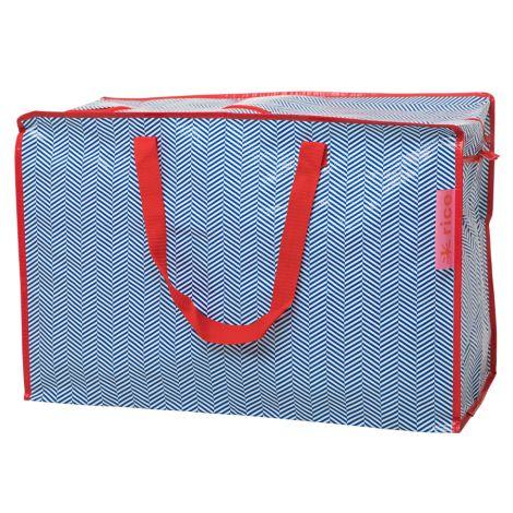 Rice Große Tasche Sailor Stripe Blue