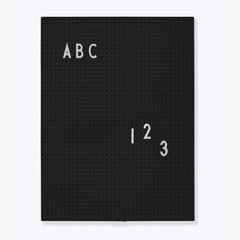 Design Letters Pinnwand Message Board A4 Black