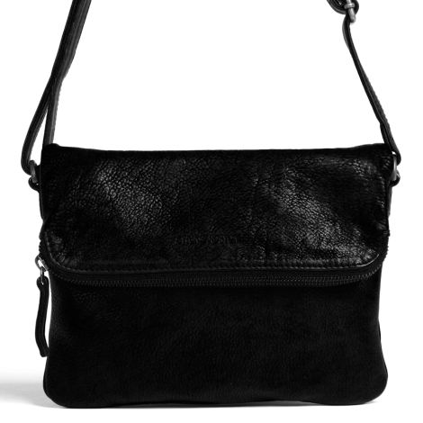 Sticks and Stones Ledertasche Bondi Black •