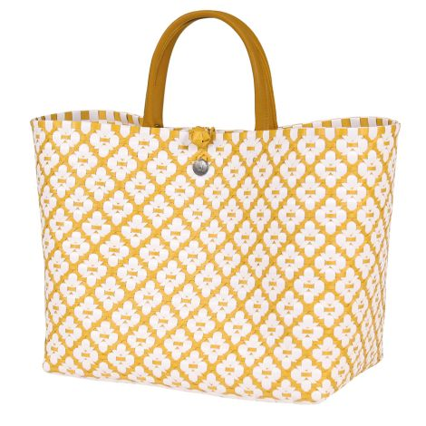 Handed By Shopper Motif White/Mustard