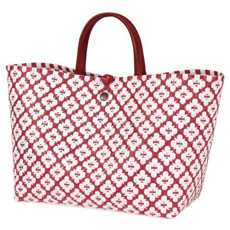 Handed By Shopper Motif White/Marsala Red