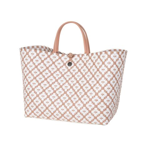 Handed By Tasche Motif Bag Copper Brush/White