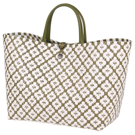 Handed By Shopper Motif White/Olive