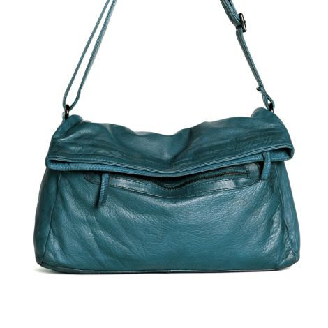 Sticks and Stones Ledertasche Brasilia Deep Teal Washed