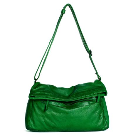 Sticks and Stones Ledertasche Brasilia Bright Green Washed