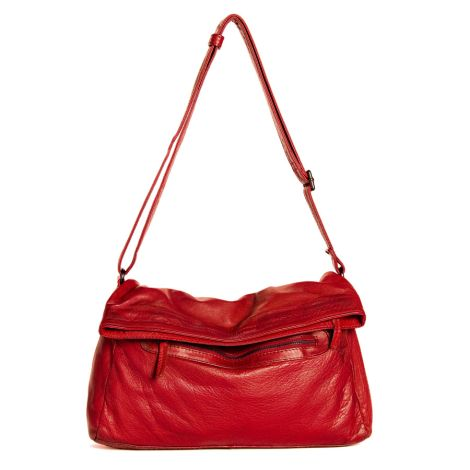 Sticks and Stones Ledertasche Brasilia Bright Red Washed •