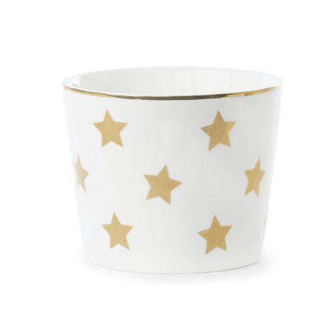 Miss Étoile Schale Stars Weiß/Gold •