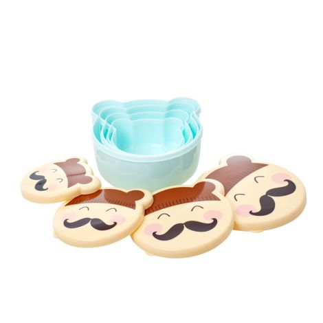 Rice Brotdose Lunchbox Faces Boy 4er-Set