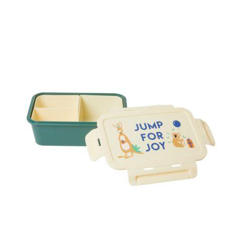 Rice Brotdose Lunchbox Party Animal Green mit 3 separaten Dosen
