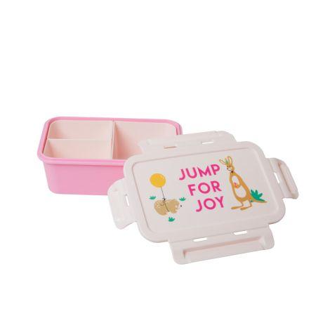 Rice Brotdose Lunchbox Party Animal Pink mit 3 separaten Dosen