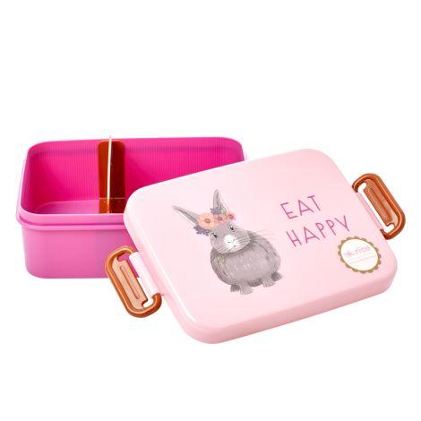 Rice Brotdose Lunchbox Farm Animals Pink